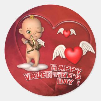 Autocollant de bébé de Toon de Saint Valentin