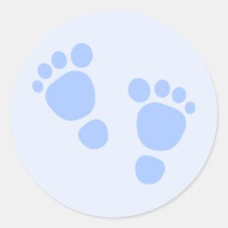 Autocollant de bébé, pieds bleus