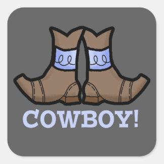 Autocollant de bleu de cowboy