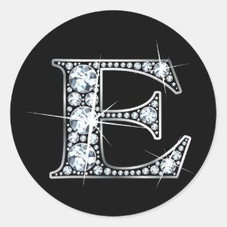 Autocollant de Bling de diamant de faux de E