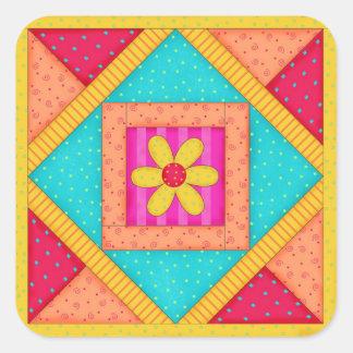 Autocollant de bloc d'édredon de patchwork