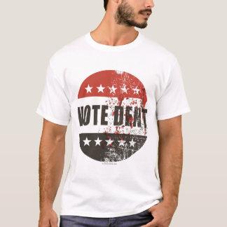 Autocollant de bosselure de vote t-shirt