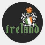 Autocollant de bouclier de l'Irlande