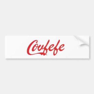 "Autocollant de butoir de ""Covfefe"""