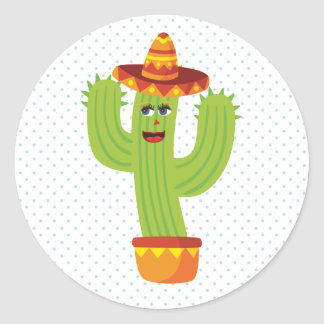 Autocollant de cactus