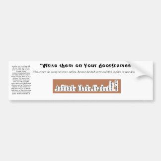 Autocollant de cadre de porte de Deuteronomy 6 de
