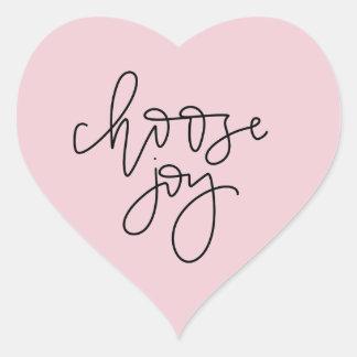 """Autocollant de calligraphie """"choisissez joie"""" de"""