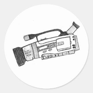 Autocollant de caméra vidéo de griffonnage