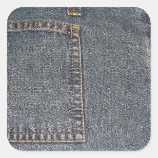 Autocollant de carré d'arrière - plan de tissu de
