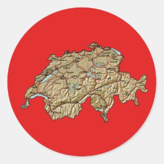 Autocollant de carte de la Suisse