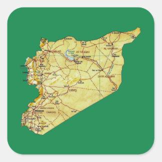 Autocollant de carte de la Syrie