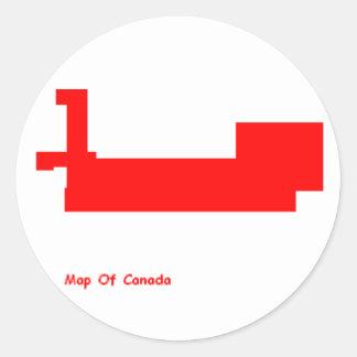 autocollant de carte du Canada