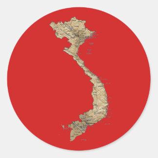 Autocollant de carte du Vietnam