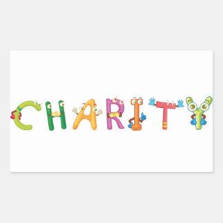 Autocollant de charité