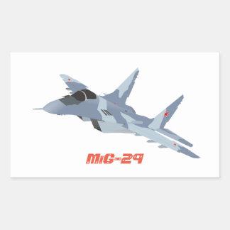 Autocollant de chasseur à réaction MiG-29