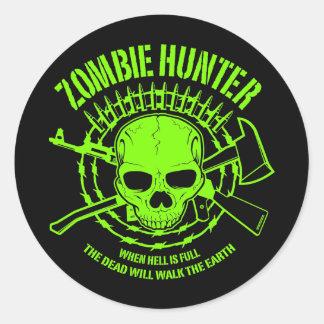 Autocollant de chasseur de zombi
