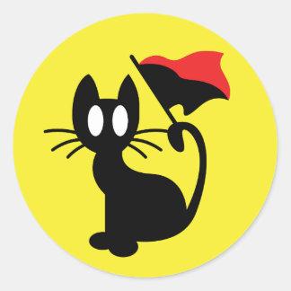 Autocollant de chat d'anarchie