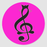 Autocollant de chat de jazz