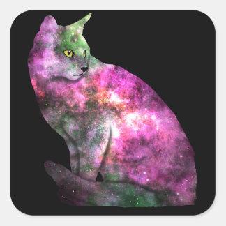 Autocollant de chat de l'espace