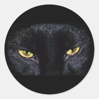 Autocollant de chat noir de Halloween