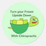 Autocollant de chiropractie d'amusement de tortue