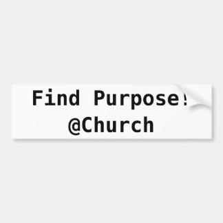 Autocollant de @Church de but de découverte