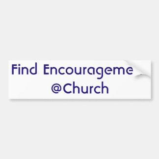 Autocollant de @Church d'encouragement de