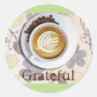 Autocollant de circulaire de gratitude de