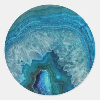 autocollant de circulaire de marbre de pierre
