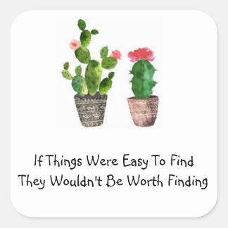 Autocollant de citation de cactus