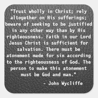 Autocollant de citation de John Wycliffe