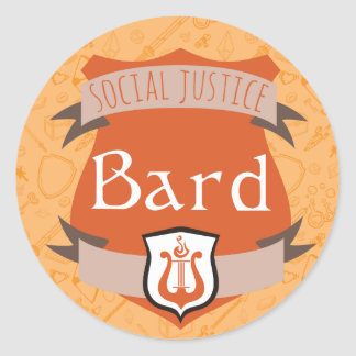 Autocollant de classe de justice sociale : Barde