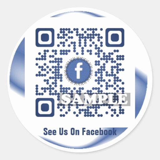 Autocollant de code de Facebook QR (modèle Net2tag