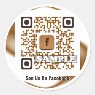 Autocollant de code de Facebook QR modèle Net2tag