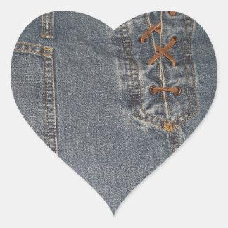 Autocollant de coeur d arrière - plan de tissu de