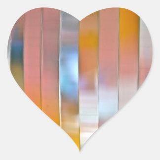 Autocollant de coeur de boule de disco