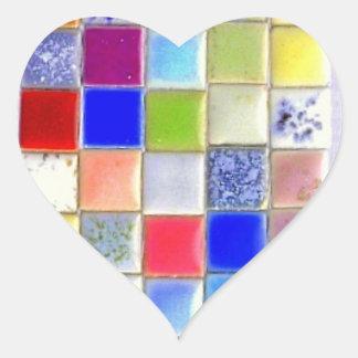 Autocollant de coeur de carreau de céramique de