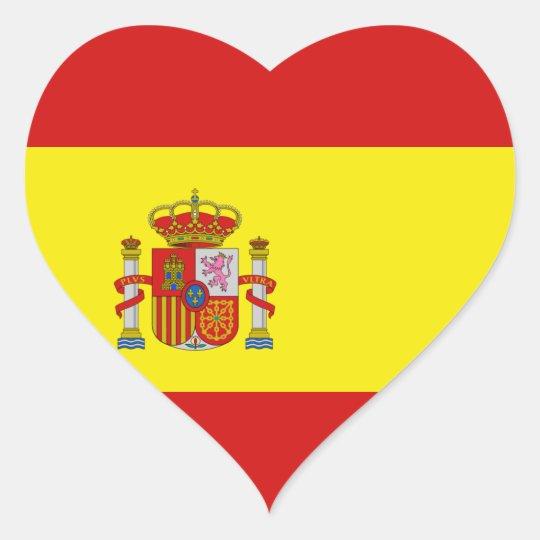 Autocollant de coeur de drapeau de l 39 espagne - Image drapeau espagnol a imprimer ...