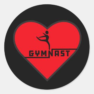 Autocollant de coeur de gymnaste