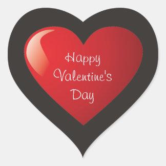 Autocollant de coeur de heureuse Sainte-Valentin