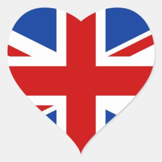 Autocollant de coeur d'Union Jack