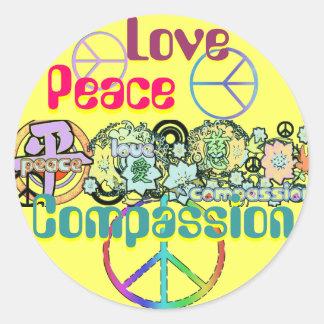 Autocollant de compassion d'amour de paix