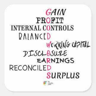 Autocollant de comptabilité - bons mots de