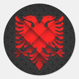 Autocollant de conception de l'Albanie