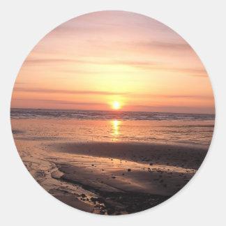 Autocollant de coucher du soleil