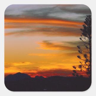 Autocollant de coucher du soleil de cycliste de Mt