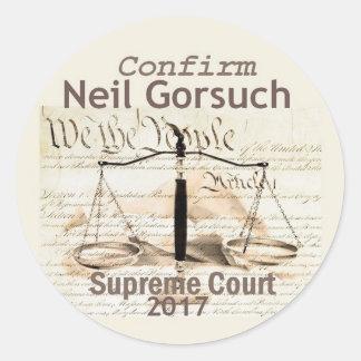 Autocollant de court suprême de Neil GORSUCH