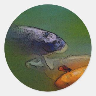Autocollant de coutume d'art de poissons de carpe