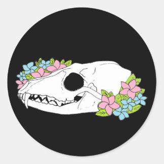 Autocollant de crâne de Fox