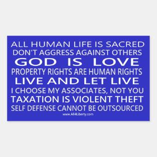 Autocollant de croyance de liberté dans bleu et